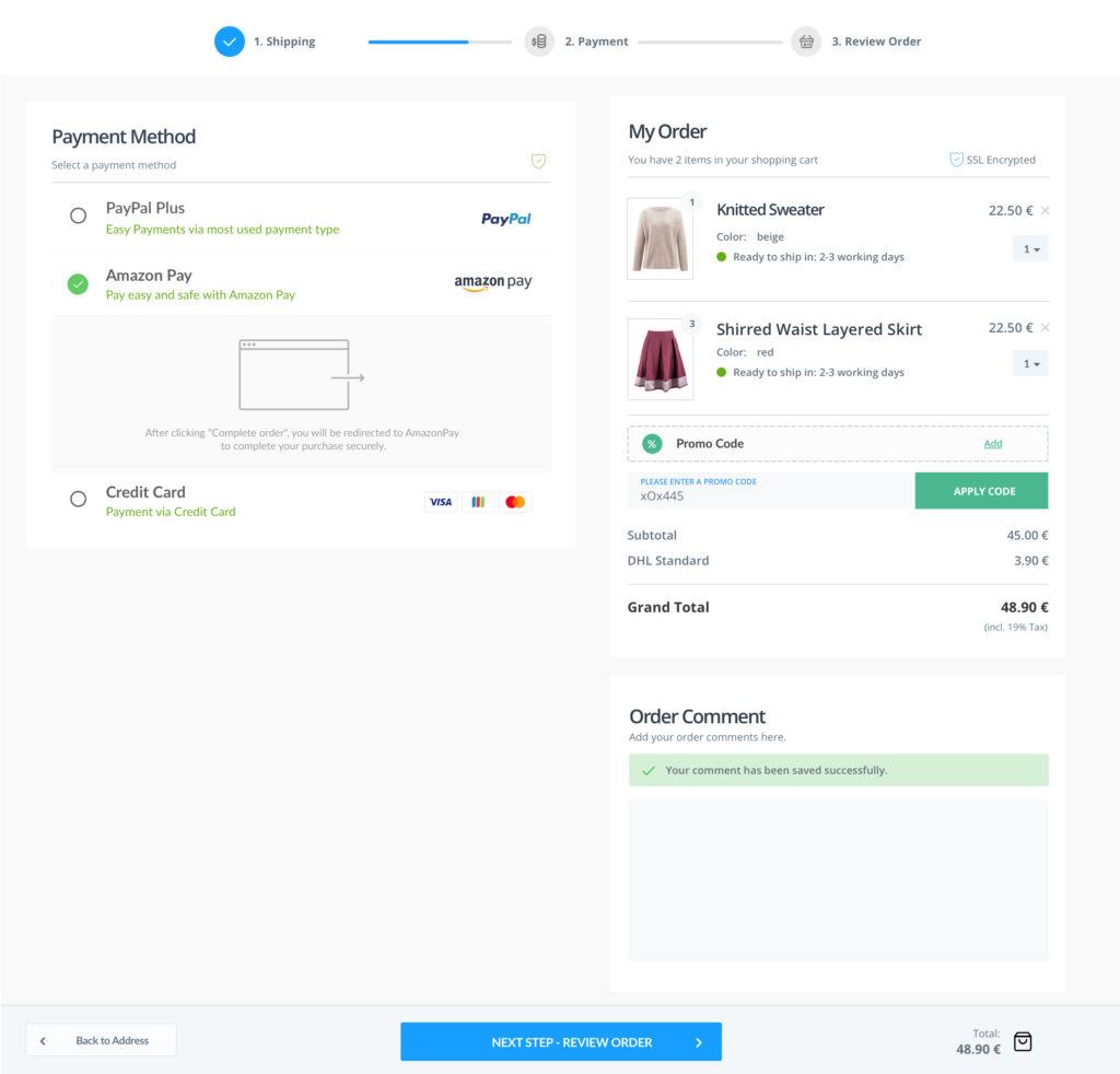 DESKTOP - Step 2 - Payment